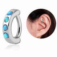 SURGICAL STEEL SYNTHETIC OPAL ROOK CLICKER PIERCING