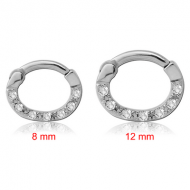 SURGICAL STEEL ROUND VALUE JEWELLED HINGED SEPTUM CLICKER PIERCING