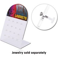 BOX OF 16 BIOFLEX INTERNAL LABRET WITH SILVER JEWELLED ATTACHMENT PIERCING