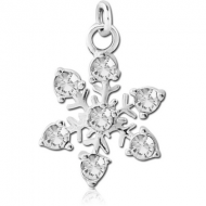 STERLING SILVER 925 JEWELLED CHARM - SNOWFLAKE