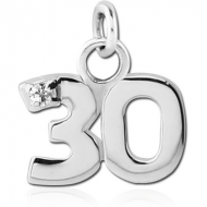 STERLING SILVER 925 PENDENT - THIRTY