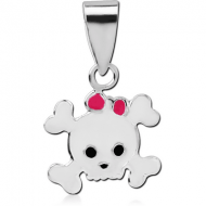 STERLING SILVER 925 PANDENT WITH ENAMEL - SKULL
