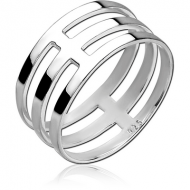 STERLING SILVER 925 RING - THREE CIRCLES