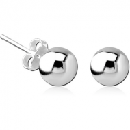 STERLING SILVER 925 EAR STUDS PAIR - BALL