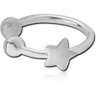 STERLING SILVER 925 ILLUSION NOSE RING WITH STAR