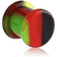 SILICONE DOUBLE FLARED RASTA PLUG