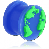 SILICONE RIDGED PLUG WITH WORLD