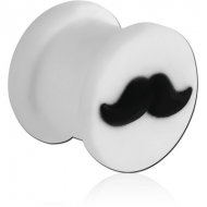 SILICONE RIDGED PLUG WITH MOUSTACHE
