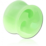 SILICONE DOUBLE FLARED SWIRL CUT OUT PLUG