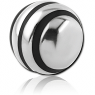 SURGICAL STEEL STRIPED BALL