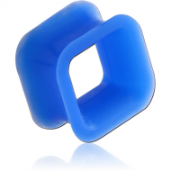 SILICONE DOUBLE FLARED SQUARE TUNNEL PIERCING