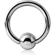 TITANIUM BALL CLOSURE RING WITH SURGICAL STEEL BALL PIERCING