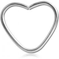 TITANIUM OPEN HEART SEAMLESS RING PIERCING