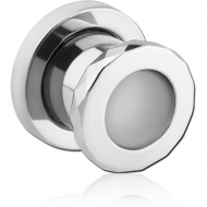 STAINLESS STEEL HAMMERED-LOOK THREADED TUNNEL
