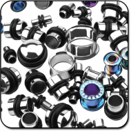 VALUE PACK OF MIX TITANIUM TUNNELS AND PLUGS PIERCING