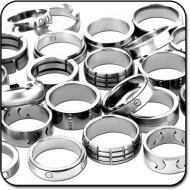 VALUE PACK OF MIX PACK OF TITANIUM WOMEN SIZE RINGS PIERCING
