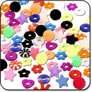 VALUE PACK OF MIX TONGUE SILICONE TOPS AND DONUTS PIERCING