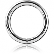 14K WHITE GOLD SEAMLESS RING PIERCING