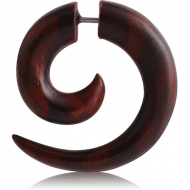 ORGANIC WOODEN FAKE SPIRAL BLACK WOOD-SONO PIERCING