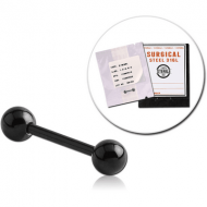 STERILE BLACK PVD SURGICAL STEEL MICRO BARBELL PIERCING