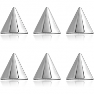 PACK OF 6 STERILE SURGICAL STEEL CONES
