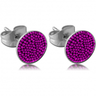 STERILE SURGICAL STEEL MULTICOLOUR BALLS EAR STUD OF CUP PAIR