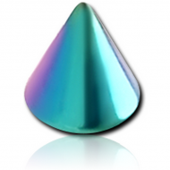 STERILE RAINBOW PVD COATED SURGICAL STEEL CONE