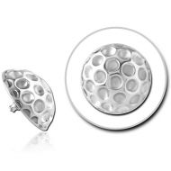 STERILE SURGICAL STEEL ATTACHMENT FOR 1.6MM INTERNALLY THREADED PINS - HAMMERED TEXTURE