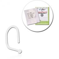 STERILE BIOFLEX CURVED NOSE STUD WITH HALF BALL PIERCING