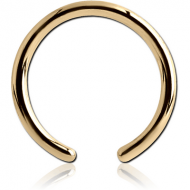 ZIRCON GOLD PVD COATED SURGICAL STEEL BALL CLOSURE RING PIN