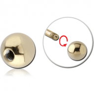ZIRCON GOLD PVD COATED SURGICAL STEEL BALL PIERCING
