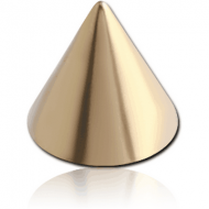 ZIRCON GOLD PVD COATED SURGICAL STEEL CONE