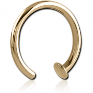 ZIRCON GOLD PVD COATED SURGICAL STEEL OPEN NOSE RING PIERCING