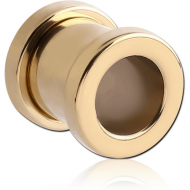 ZIRCON GOLD PVD COATED STAINLESS STEEL THREADED TUNNEL PIERCING